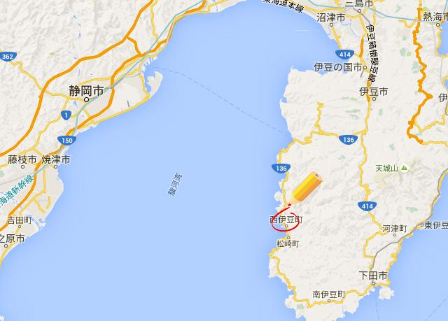 静岡県西伊豆マップ