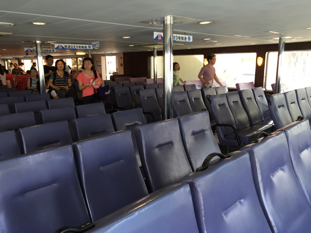 駿河湾フェリー一般席