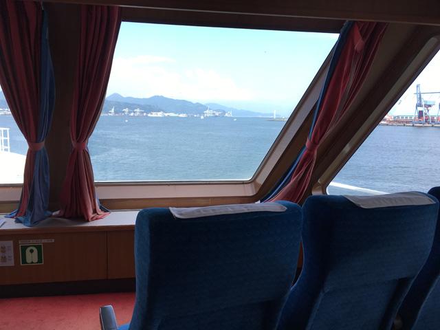 駿河湾フェリー 特別室からの眺望