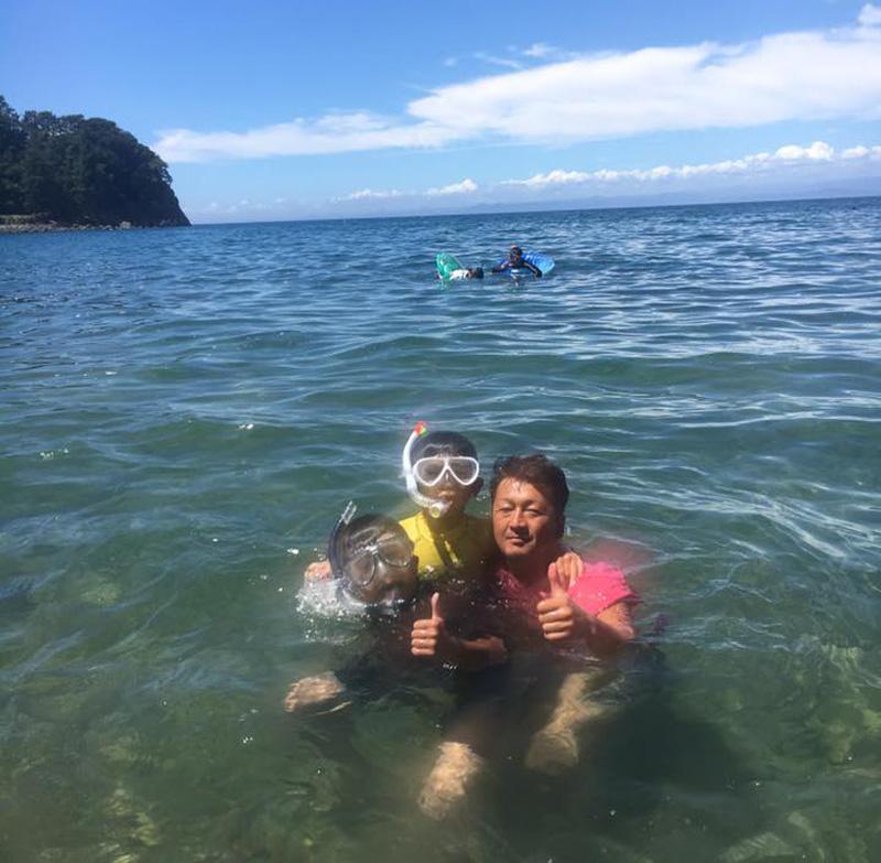 伊豆黄金崎で楽しいキャンプ 海水浴