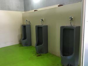 伊豆黄金崎で楽しいキャンプ トイレ