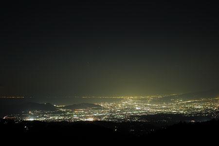 伊豆スカイラインの夜景