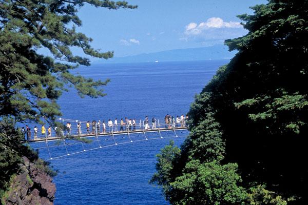 伊豆城ヶ崎の吊り橋