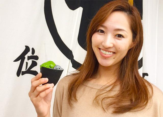 大石まゆみ「ななや」の世界一濃い抹茶ジェラートを食べる