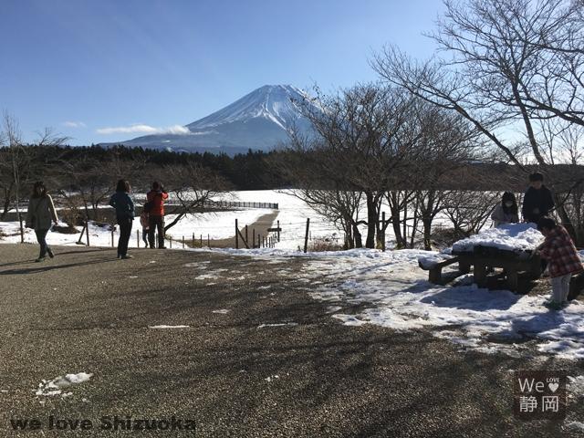 朝霧高原展望台から富士山を