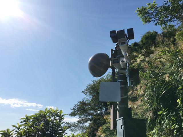薩埵峠にはTVカメラがいっぱい