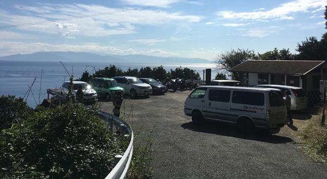 薩埵峠の駐車場