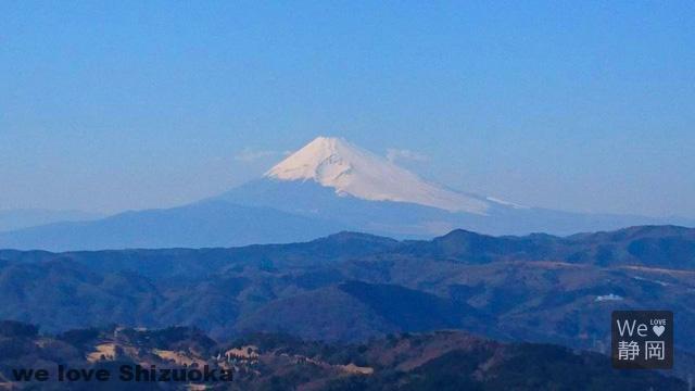 大室山山頂からの富士山