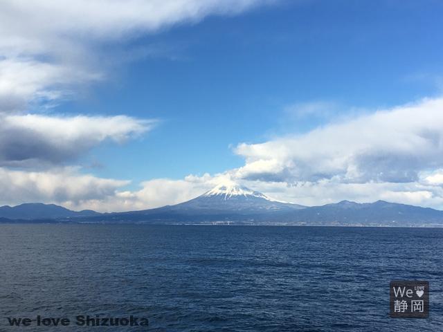 駿河湾フェリーから富士山