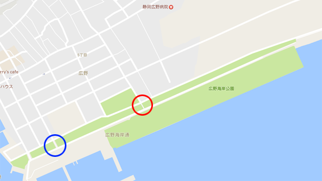 広野海浜公園へのアクセス