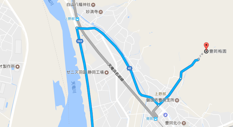 豊岡梅園へのアクセス
