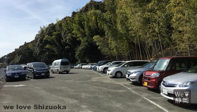 140台停められる豊岡梅園の駐車場