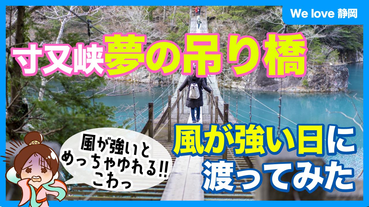 寸又峡夢のつり橋を共有の中渡ってみた!