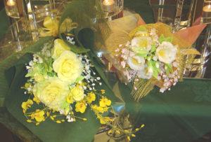 樹脂粘土で作った盆栽・花展