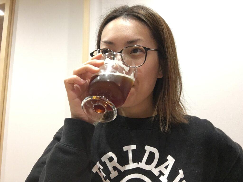 ビール好き女子