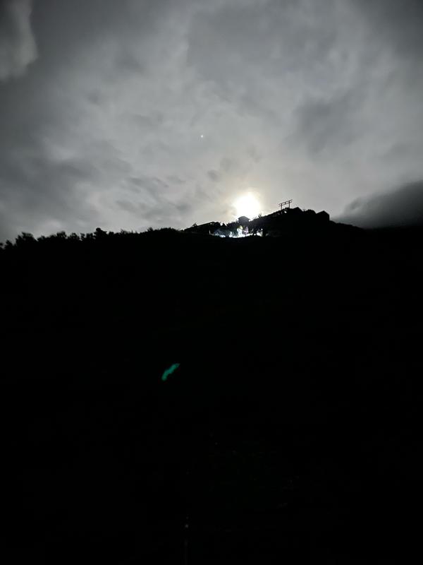 富士登山:月明かり