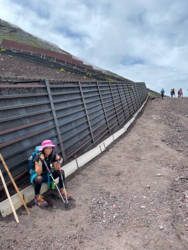 富士登山7合目まで